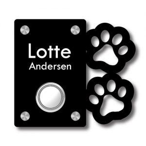 Dørskilt Hundepoter - Med trådløs Honeywell ringeklokke - Ztili.no