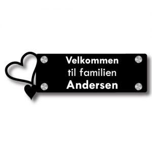 Dørskilt Hjerter - Uten trådløs Honeywell ringeklokke - Ztili.no