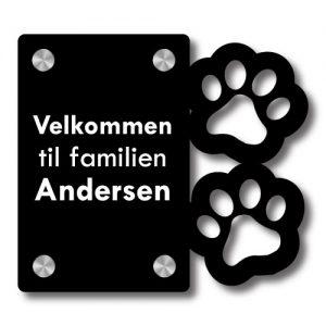 Dørskilt Hundepoter - Uten trådløs Honeywell ringeklokke - Ztili.no