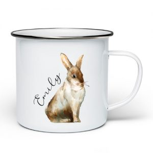 Kanin emaljekopp med navn - Unike navnekopper - Ztili.no