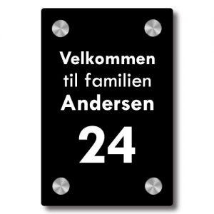 Dørskilt Avlangt Moderne - Uten trådløs Honeywell ringeklokke - Ztili.no