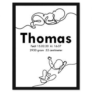 Fødselsplakat Babyboom - Personlige plakater for hele familie - Ztili.no