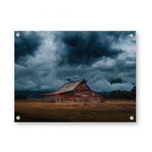 Landskap med hytte veggbilde - Velg blant 2 millioner motiver - Ztili.no